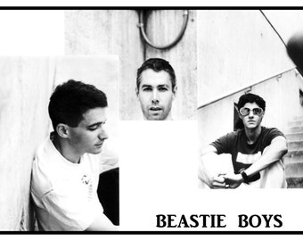 Beastie Boys Poster, Mike D, Ad Rock, MCA, Hip Hop, Rap, Rock Music, Iconic Musicians
