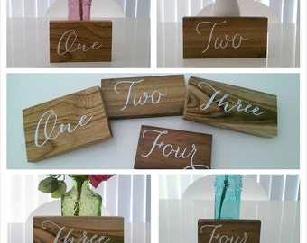 Wooden table numbers - Set of 10