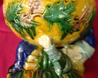 Majolica Bowl with Elf