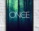Once Upon A Time Inspired Poster - A4 - TV Poster