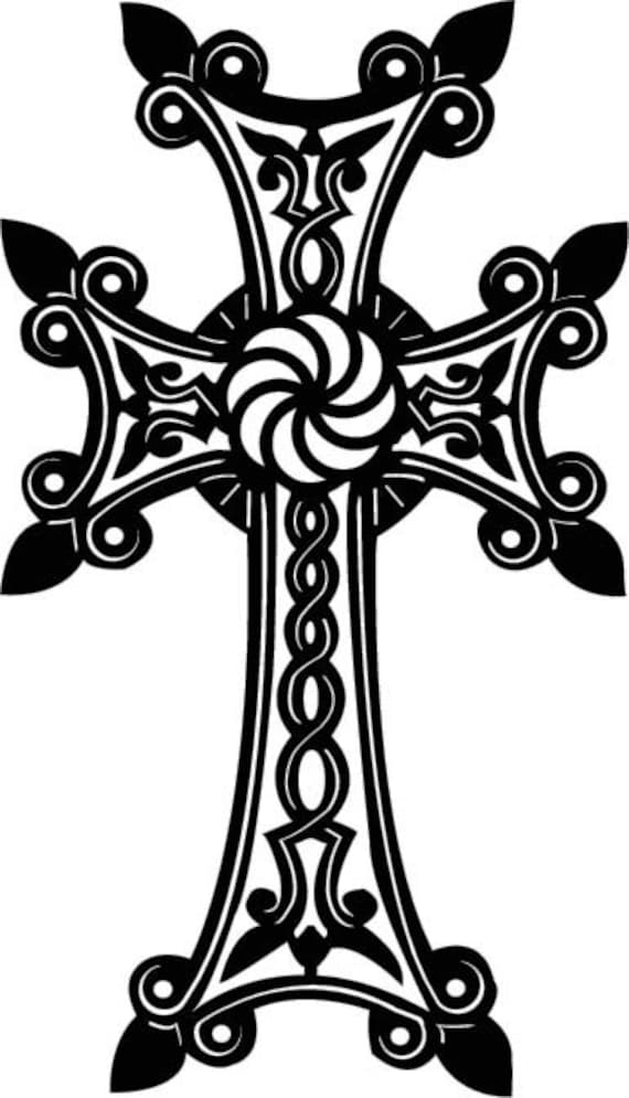 armenian cross fancy metal wall art decor by cre8ivemetaldesigns. Black Bedroom Furniture Sets. Home Design Ideas