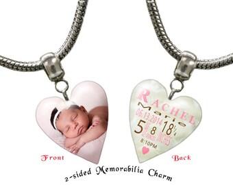Photo Necklace or Bracelet. photo charm, photo bracelet, photo necklace, personalized jewelry,photo jewelry,custom jewelry,: A000147