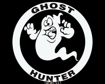 GHOST HUNTER ver 2 Paranormal Investigator vinyl sticker Ghost Hunter Window Bumper Car Truck