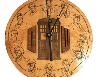 Doctor Who 12 Doctors Wall Clock