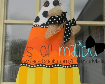 Whimsical Fall Candy Corn Door Hanger