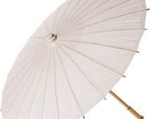 Perfect White Plain Paper Parasol Umbrella Japanese Rice Paper Large 32 In Premium Outdoor Wedding Shower Party Picture Decoration Prop