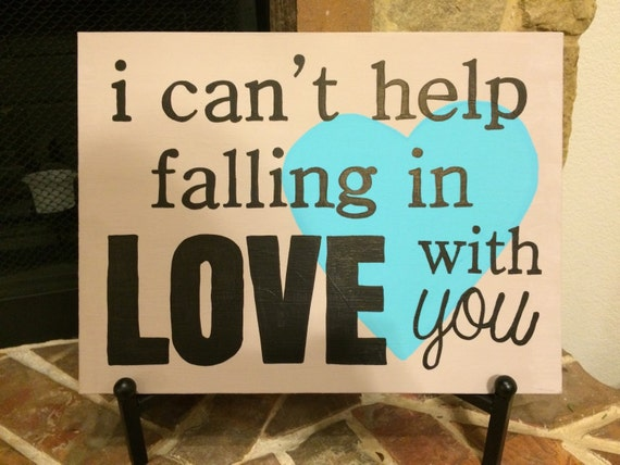 Items similar to I Can't Help Falling In Love With You ...