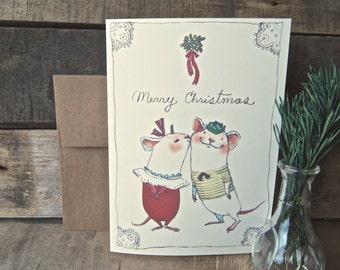 Mistletoe Christmas Card
