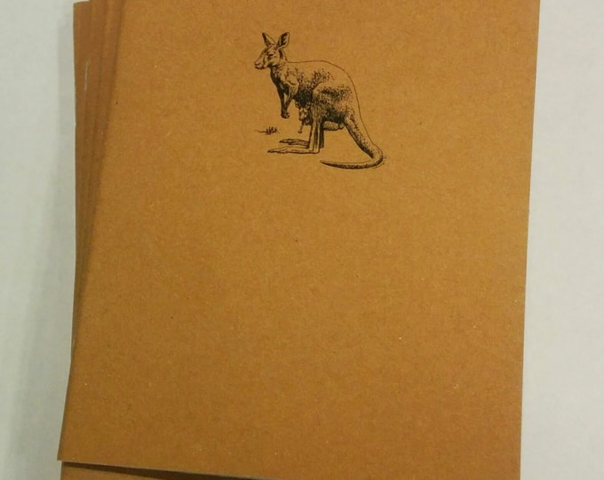 Kangaroo Mini Notebook - diary, journal, party favors, multipack, custom printing included