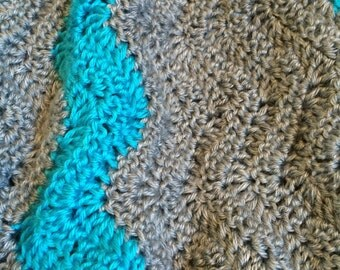 Soft waves crochet afghan