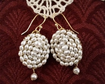 Reproduction Mary Todd Lincoln Pearl Earrings Fresh Water Pearls