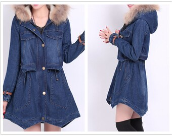 thick jacket warm large street clothing women fur hooded coat a69