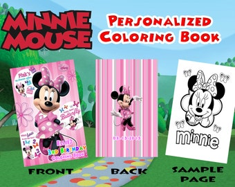 Minnie Mouse Club House Birthday Personalized Coloring Book
