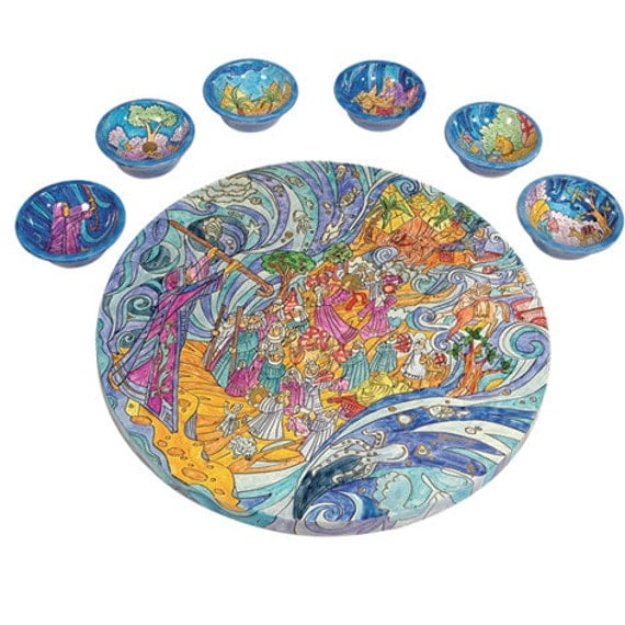 Passover Seder Plate Passover Plate The by YairEmanuelJudaica