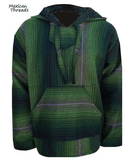 Mexican Threads Baja Hoodie Drug Rug Jerga Pullover