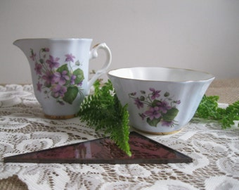 Antique Royal Grafton Fine Bone China Cream And Sugar England...Reshopgoods