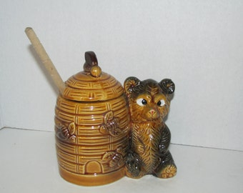Vintage Armbee Bear Honey Jar / Honey Pot / Japan