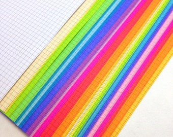 ULTIMATE RAINBOW  Planner Paper fits Filofax Pocket, Personal or A5 size Planners