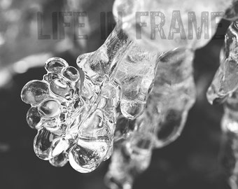 Ice Photography, Ice, Ice art, Abstract Art, Photography, Black and White