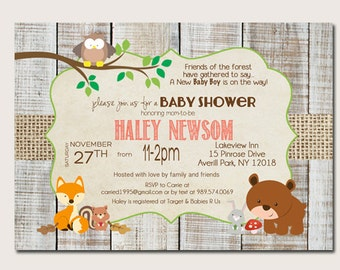 forest animal baby shower invitations woodland baby shower invitation 59