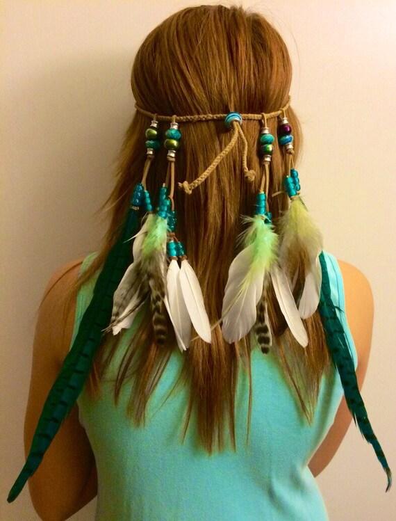 Tribal Headband Native American Feather by enchantedheadwear