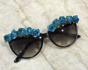 Handmade Chic Flower Sunglasses