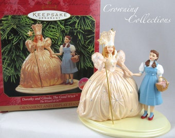 Hallmark Dorothy and Glinda the Good Witch Ornament The Wizard of Oz Keepsake Vintage Mint in Box Gale