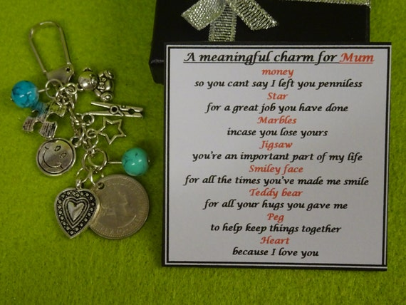 Meaningful keepsake for dad or mum key ring charm gift box for Meaningful gifts for dad from daughter