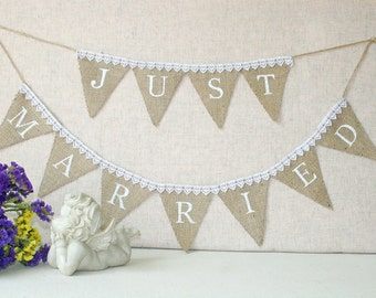 just married banner, Just Married Wedding banner, rustic wedding banner,just married burlap banner, Wedding Banner, burlap wedding banner