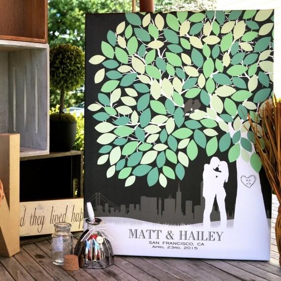 Wedding Guest Signing Tree: Guestbook Wedding Canvas Wedding Keepsake Art Canvas Or Art