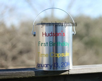 First Birthday Time Capsule - Primary Colors