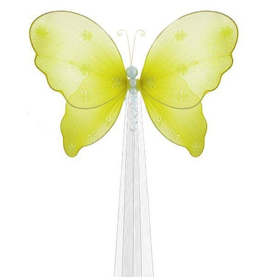 Butterfly Drapery Tie Back Yellow Isabella By Butterflygrove