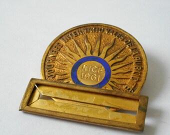 antique collectible French journees internationales de la publicite medal 1961