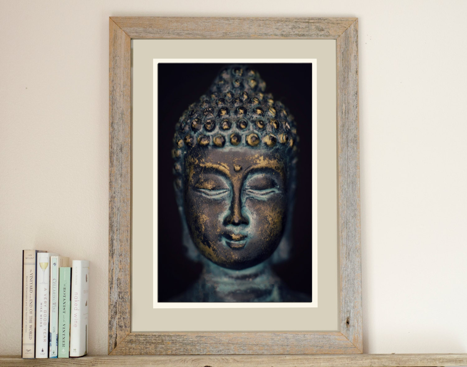 Buddha print photograph home decor zen wall art for Zen home decorations
