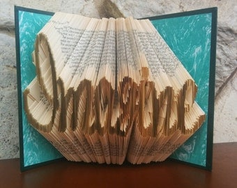 Imagine - Folded Book Art - Fully Customizable, imagination