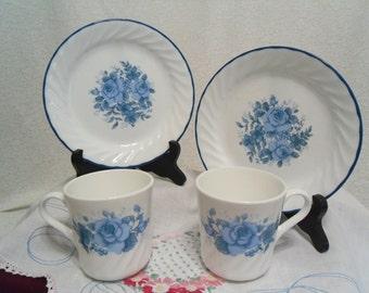 Corning Dessert Plates - Blue Velvet