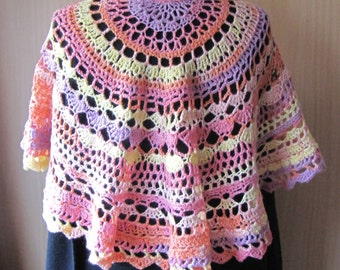 crochet half circle shawl stole so sweet