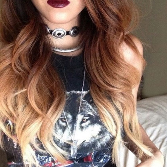 Three Clip Hair Extensions Three Tone Ombre Clip in Hair