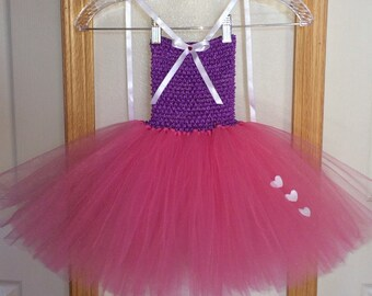 Valentine's Tutu/Purple, White & Pink Tutu