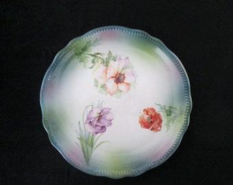 Vintage Franz Ant. Mehlem Bonn Germany Flower Porcelain Plate