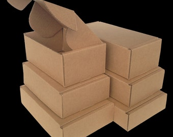 Sampler Pack of all 6 Tuck Top SaverBoxes - Boxes fit perfectly in USPS Flat Rate Envelope - Lower your shipping cost by 50% or more