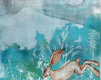 The Hare on the Mountain - Art Print