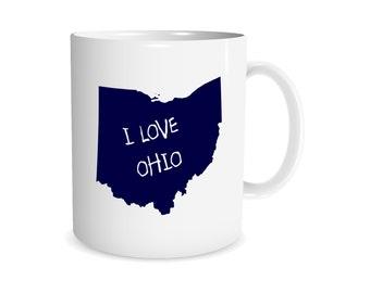 Ohio Coffee Mug, Buckeye State, Ohio State Coffee Mug, Unique Coffee Mug, Funny Coffee Mug, Home, Gift Idea For Him, Gift Idea For Her, 0097