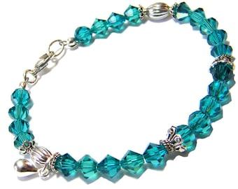 Swarovski Bracelet, Swarovski Crystal Bracelet, Stackable Bracelet, Sterling Silver Swarovski Bracelet, Crystal Bracelet