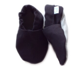 Simple Black Cotton Baby Shoes