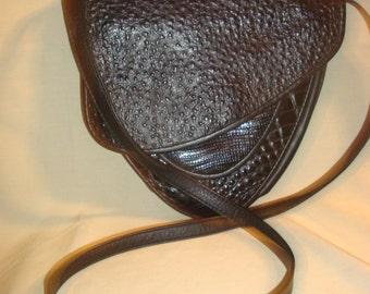 Black Leather Crossbody Shoulder Bag