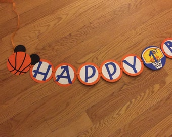 Mickey Mouse Basketball Birthday Banner