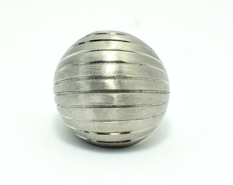 Stainless steel Grooved lines Dome ring
