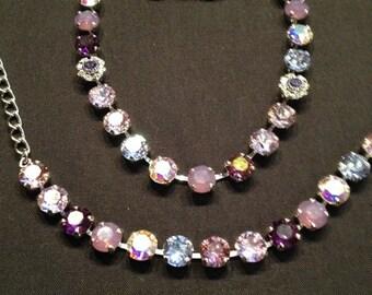 Swarovski necklace/bracelet/earring set