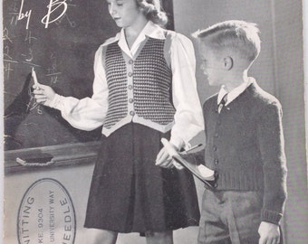 Hand Knits by Beehive from 4 to 14, No. 130, First Edition 1945 PRICE REDUCED